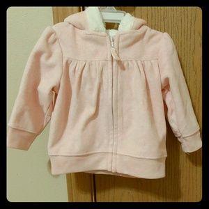 6M Super Cute Pink hoodie with ears.